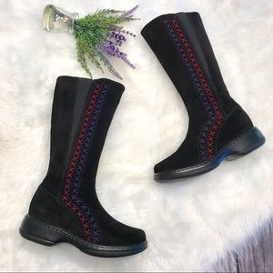 Dansko RARE Suede Cross-stitched Tall Boots